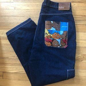 ⬇️55 FUBU Platinum Fat Albert Jeans 38